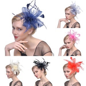 2019 New Style Fashion Hot Elegant Women Feather Solid Flower Veil Top Hat Casual Beautiful Party
