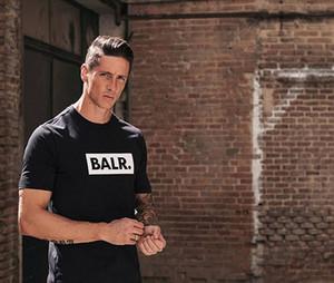 BALR t shirt Tee Europe английский алфавитно-цифровой уличный все-Матч хлопок футболка мужчины Спорт футбольный мяч носить повседневный тройник топы одежда плюс размер