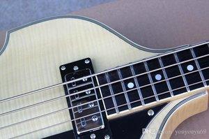 Atacado 4 Cordas Baixo Elétrico Guitarra com Sintonizador Branco, Fiamma bege impiallacciatura, Preto Battipenna, oferecendo personalizados Serviços