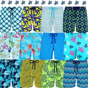 Swimwear V070255 Vilebre Marca Board Shorts Homens Bermuda Vilebre Turtle Impressão Homem Boardshort 100% de Homens Quick Dry