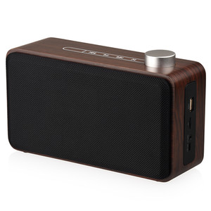 Holz Bluetooth Hifi-Lautsprecher Schachtel mit Touch-Wireless-Portable Stereo-Subwoofer-TF-Karte USB-MP3-Player für Mobiltelefon