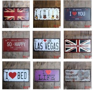 30*15 CM Vintage Tin Metal Signs Decorative Beer License Plate Coffee Tin Sign Home Pub Bar Wall Poster Metal Tin Signs Painting Bar DHF45