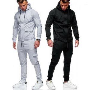 Erkek eşofmanları 1 adet pantolon veya ceket bir takım elbise M-XXL erkek eşofman koşu hoodie kapüşonlu ceket pantolon sweatpants joggers spor swe