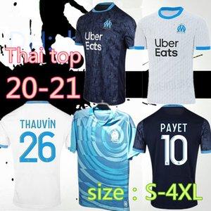 S-4XL Maillot OM Olympique de Marseille futbol forması 2020 2021 Marsilya Maillot ayak BENEDETTO PAYET L GUSTAVO 20 21 THAUVIN gömlek de