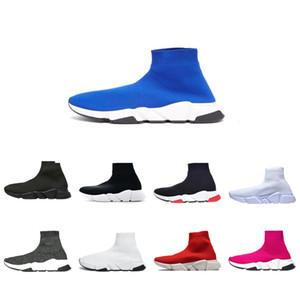 Zapatos de diseño calcetín Triple Negro Blanco Hombres Mujeres Moda de zapatos zapatillas de deporte del brillo amarillo Bue Rosa Plataforma Runner Trainer Hombres Moda