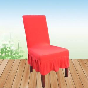 Plain Color House cadeira de jantar sólido quente capas de cadeira Desk Spadex Escritório Covers Covers elástico esticar cadeira conferência
