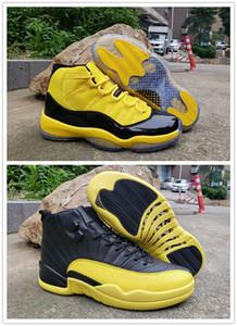 Yeni Erkekler Basketbol Ayakkabıları 11 12 Sarı Bumblebee Uzay Reçeli Eğitmen Spor Sneaker Jumpman RS-X Driste 11s Erkek Atletik Ayakkabı