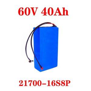 60V20AH 25ah 30ah 40AH Elektrische Roller-Batterie 60V 40Ah-Elektrofahrrad-Lithium-Batterie-Roller 60V 1000W Ebike-Akku