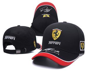 2020 de alta calidad nuevo logo Ferrari negro estilo Auto Logo bordado ajustable del snapback capucha para hombre del sombrero de las mujeres unisex 2019