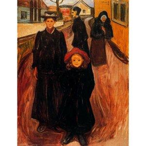 Эдвард Мунк картины Четыре возраста в жизни современное искусство холст, масло искусство ручной работы подарок