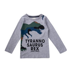 Hot Sale Baby Kids Boys Toddler Dinosaur Casual Cotton T-Shirt Clothes Tops Tees