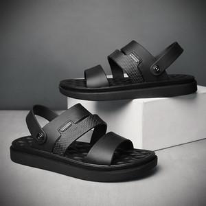 Corea del estilo sandalias casuales tendencia del verano de doble finalidad de la playa de zapatos Versitile hombres de la moda zapatillas