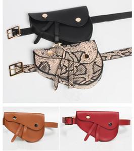 La reciente más caliente de la cintura de las señoras de la serpiente bolsa de diseñador correa fina de la silla de montar Bolsa de moda mini teléfono móvil del monedero del bolso