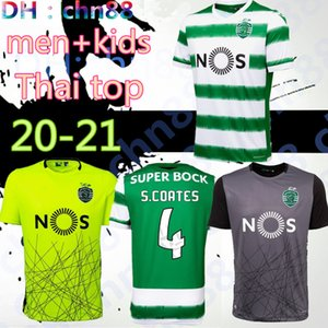 men kids Thai quality Sporting Soccer jersey 20 21 Lisbon Football Shirts 2020 2021 Ronaldo FERNANDES NANI Football jersey Maillot