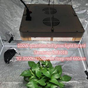NEW 100W سامسونج LM301B 3000K 3500K + 660nm الكم مجلس أدت لالاحتباس الحراري داخلي الزراعة المائية النباتات Lighitng لطيفا واسعا أدى النمو ضوء