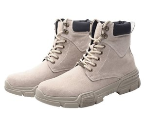 Кожаные ботинки Мартина 39-48 ЕС размеры армейские сапоги 4 см платформа жесткие вощеные нейлоновые шнурки замшевые сапоги на шнуровке открытый повседневный