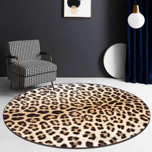 현대 섹시한 노란색 레오파드는 거실 장식 침실 둥근 바닥 매트 깔개 3D 북유럽 홈 Dywan를 들어 카펫 여자를 인쇄