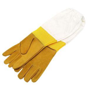 A Pair Bee Gloves Protective Beekeeping Gloves Goatskin Bee Keeping Vented Long Sleeves Beekeeping Equipment And Toolsd38