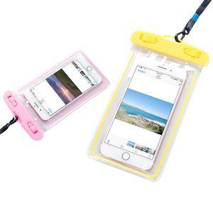 2246 Universal Night Light Waterproof Cellphone Bag Outdoor Wallet Drifting Diving Cover Underwater Photo Shoot Waterproof Bag