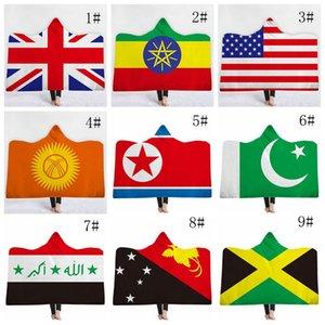 Bandeira Nacional Moletom cobertor quente de inverno de espessura Início do curso do avião Use preguiçoso Cobertores capa Sherp Blanket 130 centímetros * 150 centímetros DH0343