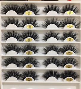 25mm long mink eyelashes 5D large mink eyelashes false eyelashes 12 styles 5 sets free shipping by epacket