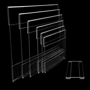 9 * 6 см 100 шт 1.3mm клей Полка настенная Вход Обложка рамки Акриловые этикетки держатель ценник Название карты Этикетка стойки