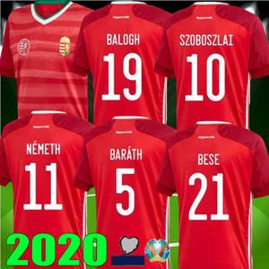 bateau libre 2020 2021 maison maillot de football rouge Hongrie 20 21 équipe nationale Dominik Szoboszlai Willi Orban Tamás Kádár chemises uniformes de football
