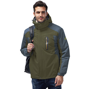 2019 explosion models of cross-border trade wind and waterproof outdoor jacket ski mountaineering cycling clothes large size men Jackets