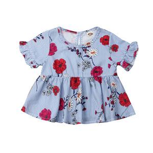 Infant Toddler Baby Bambini Girl Summer Clothes Sundress Casual Party Floral Dress Princess Print Abiti floreali Vestiti abbigliamento