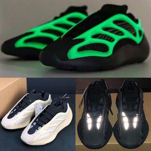 Kanye 700 V3 Azael Alvah zapatillas brillan en la oscuridad zapatillas de deporte del diseñador deporte de la manera para hombre blanca del capacitadores las mujeres con la caja US 5-11