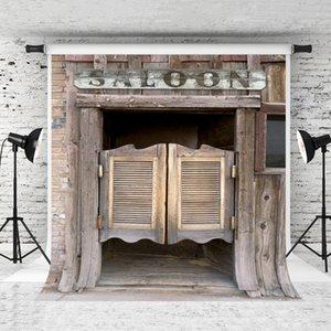 Sogno 5x7ft / 150x220cm fondale Retro portello di legno Saloon Doors occidentale Fotografia Sfondo per Saloon partito fotografico Studio Prop