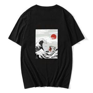 브랜드 남성 T 셔츠 옴므 하라주쿠는 t- 셔츠 일본어 인쇄 패턴 재미 T -Shirt면 힙합 헐렁한 셔츠 패션 사이즈 XS-2XL를 3D