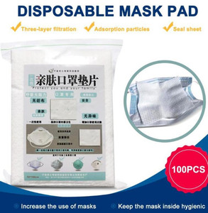 US Stock 100pcs lot Disposable Face Masks Replacement Filtering Pad Breathable Mask Gasket Respiring Mat for all kinds of Masks