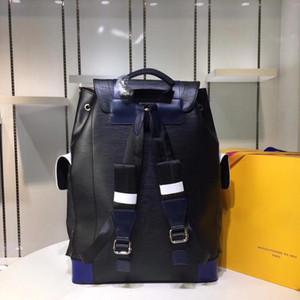 Marca mulheres e homens mochilas genuíno couro de luxo da moda marca amy projeto bolsa verde mochila para homens sacos de 41 x 47 x 13 cm # N41379