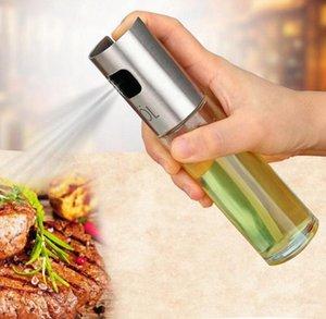 Glass Olive Pump Spray Bottle Stainless Steel Oil Sauce Vinegar Sprayer BBQ Cookware Pot Cooking Tools Kitchen Gadget 100ML YW1107