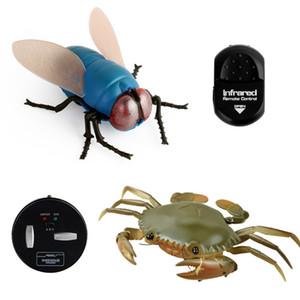 적외선 RC 동물 곤충 시뮬레이션 거미 꿀벌의 비행 게 Ladyb 전기 사마귀 로봇 장난감 할로윈 장난 곤충 아이들이 장난감 Y200414