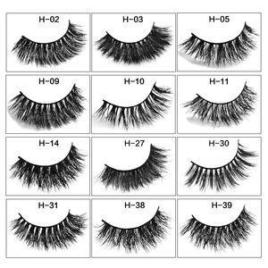 2019 MINK eyelashes 12 styles 1pair lot 3D Full Strip False Eyelash Long Individual Mink Lashes Extension Makeup