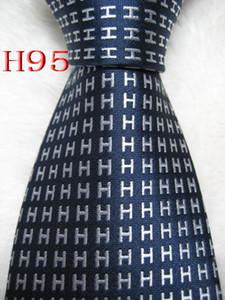 Cravatta cravatta da uomo fatta a mano tessuta jacquard # 100% seta HH3 Multicolore opzionale