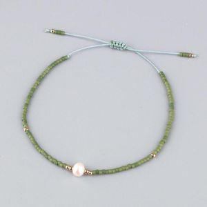 KELITCH 2020 Catena Nuova Boho Miyuki braccialetti tessuti intrecciato Shell Beads String Bangles Trendy Maxi Stretch bracciale bracciali Nuovo