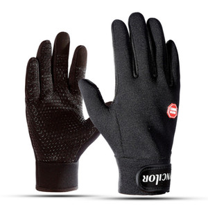Outdoor sports ski gloves warm outdoor riding gloves warm ski gloves fleece cold and windproof anti-slip touch screen