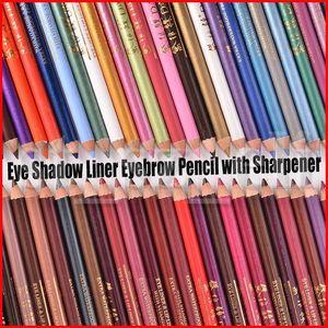52 цвета глаз макияж инструмент Eye Shadow Liner Комбинация глаз бровей макияж макияж подводка для глаз Карандаш для Губ различных цветов с точилкой