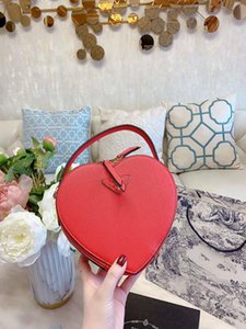 Love Female of New Fund of 2020 Small Round Packages In Hand Bill Lading Genuine Leather Handbag Shoulder Bucket Bags Woman Luxury Handbag