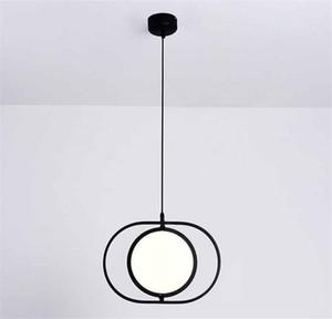 Anello Nordic Light moderna girevole LED lampadario Albergo Home Liiving pendente Camera Lampada da soffitto Fxiture PA0352