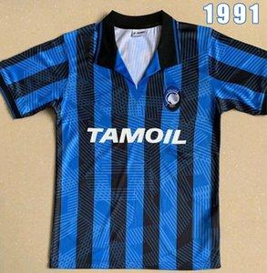 Atalanta 91 92 Retro CANIGGIA STROMBERG PAULINO camisetas de futbol 1991 1992 soccer uniform kits soccer jersey thailand quality football
