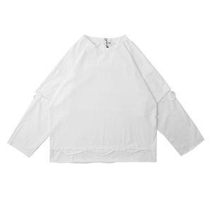 3 colores dos piezas camisetas hombres y mujeres manga larga sólido 100% algodón verano camiseta cuello redondo camisetas de gran tamaño