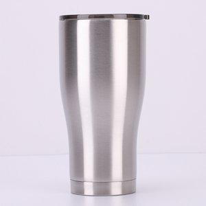 20oz Curved Cup 30oz 스테인레스 스틸 텀블러 절연 물병 내열 식용 머그잔 LidA02