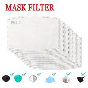 Tampon Değiştirilebilir Filtre Conta 5layers Aktif Karbon Filtre PM2.5 Karşıtı Haze Su geçirmez Maskesi Conta Sağlık Ücretsiz DHL Protect Maske