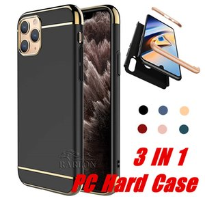 New 3 in 1 Ultra Thin Slim PC Hard Phone Case Coated Non Slip Matte Surface with Electroplate Frame for iPhone 11 Pro Max Xr Xs 6s 7 8 Plus