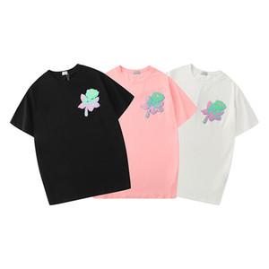 Camicia di lusso 2020 Estate del nuovo progettista ricamo floreale maglietta manica corta Tees divertente Top Uomini Tees T