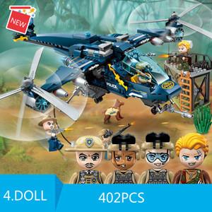 City Police Series - Osprey Helicopter Boys and Children Fácil de montar Presentes de brinquedo para blocos de construção